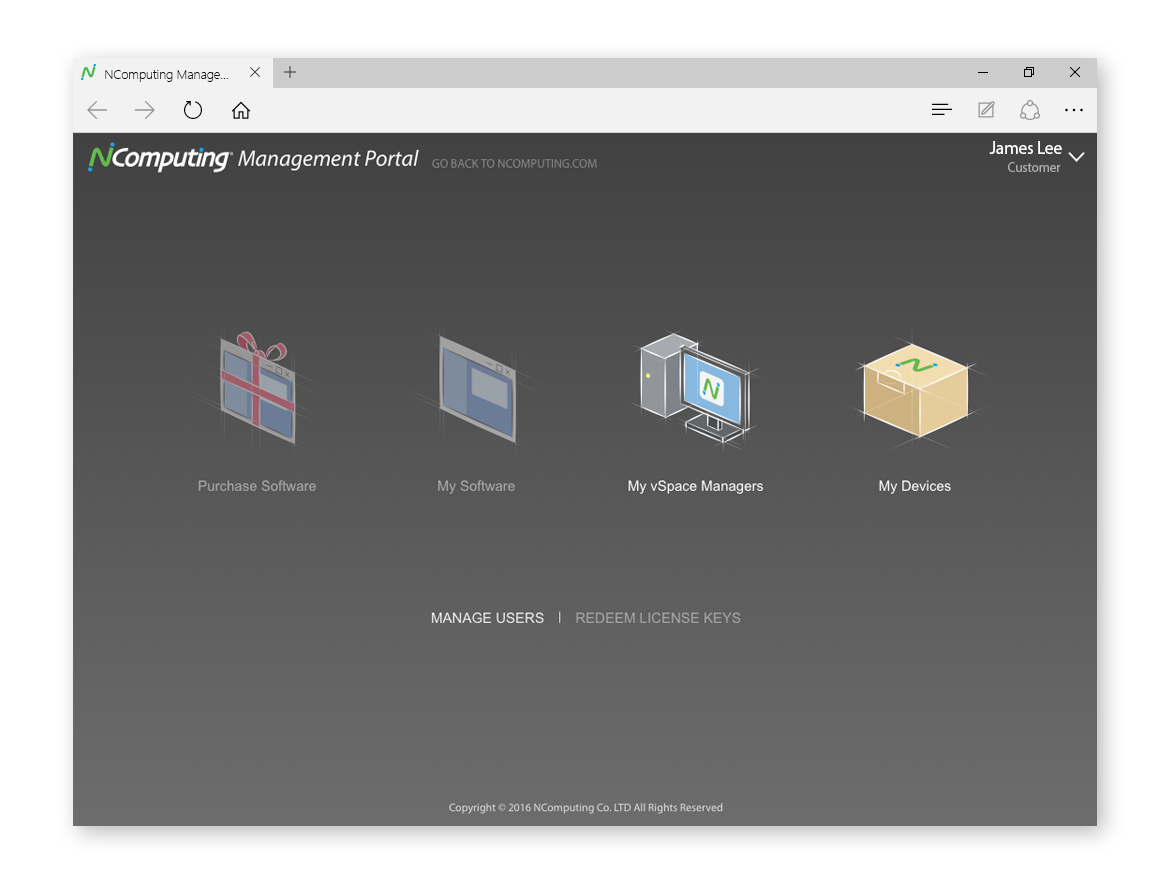 NComputing Management Portal