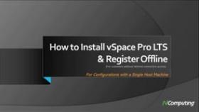 vSpace Pro LTS installation video