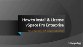 vSpace Pro Enterprise Edition installation video