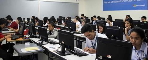 Asia Pacific College computer lab