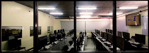 Asia Pacific College empty computer lab during the pandemic