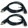 HDMI Male to Male cables; 1.2M / 47in