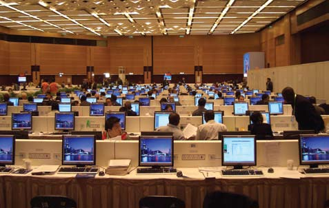 World Trade Organization press center powered by NComputing.