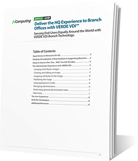 VERDE VDI Branch Technology whitepaper